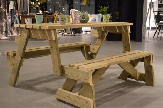 Picknick Tafel En Bank Ineen.Feelgood Market Online Opklapbare Picknicktafel Bank 2in1 2 4